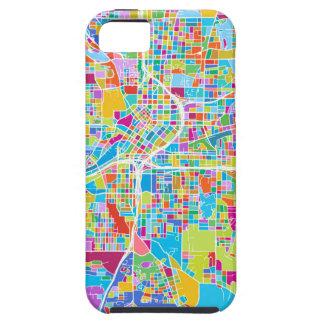 Bunte Atlanta-Karte iPhone 5 Cover