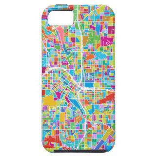 Bunte Atlanta-Karte iPhone 5 Hülle