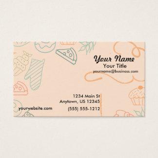 Bunte Bäckerei-Skizze Visitenkarte