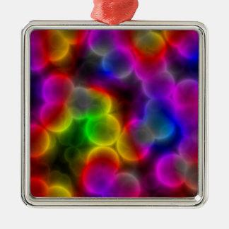 Bunte Bakterien Silbernes Ornament