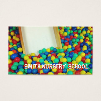 Bunte Ball-Pool-Kinderzimmer-Schulgeschäfts-Karte Visitenkarte
