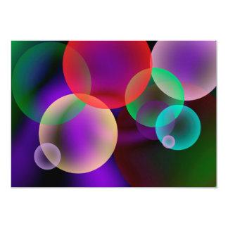 Bunte Blasen-Einladung Karte