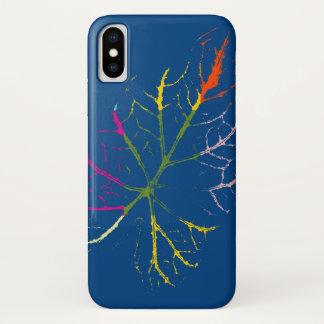Bunte Blatt-schöne Kunst iPhone X Hülle