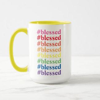 Bunte #blessed Tasse