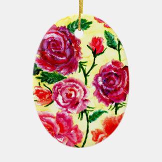 Bunte Blumen 5 Keramik Ornament
