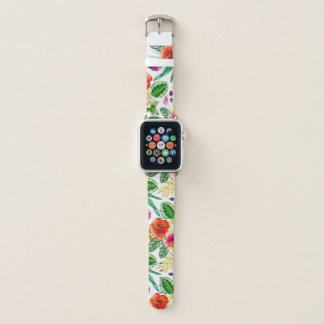 bunte Blumenapfeluhr Apple Watch Armband