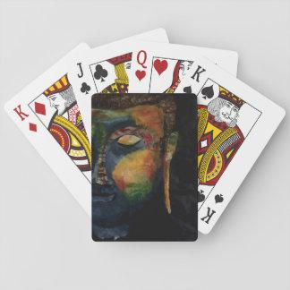 Bunte Budha abstrakte Malereikarte Spielkarten
