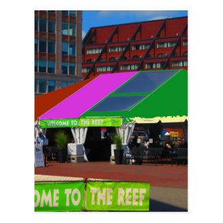 Bunte Bus-Ausflugansichten Boston-Stadt USA Postkarte