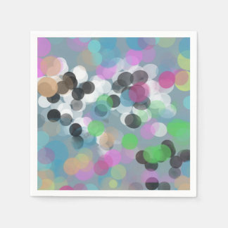 Bunte Confetti Bokeh Punkte Papierservietten