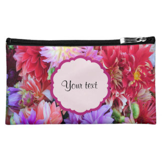 Bunte Dahlien Cosmetic Bag