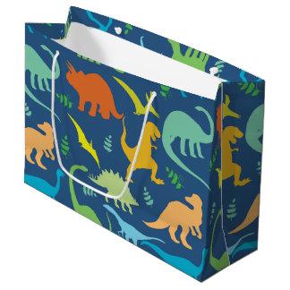 Bunte Dinosaurier Große Geschenktüte