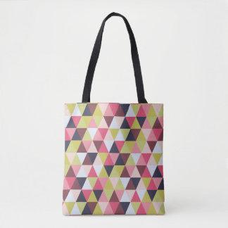 Bunte Dreieck-Tasche (größtenteils Rosa und Tasche