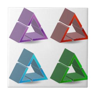 Bunte Dreiecke Keramikfliese