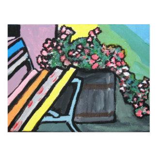 Bunte Ecke, von Studio-Mittlerem Postkarte