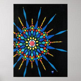 Bunte Edelstein-Mosaik-Malerei-Plakate Poster