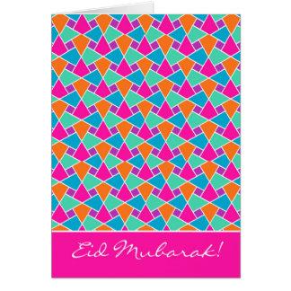 Bunte Eid Karte, helles islamisches Muster Grußkarte