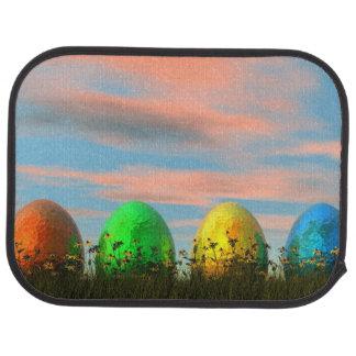 Bunte Eier für Ostern - 3D übertragen Autofußmatte