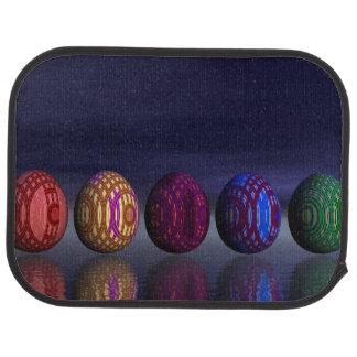 Bunte Eier für Ostern - 3D übertragen Automatte