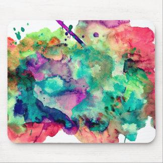 Bunte, einzigartige Aquarell-Farbe spritzt Mousepads