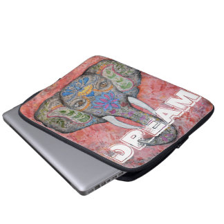 Bunte Elefant-Kunst-Laptop-Traumhülse Laptopschutzhülle