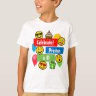Bunte Emoji Geburtstags-Party-Kinder oder Jungen T-Shirt