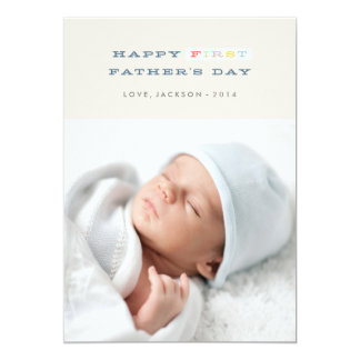 Bunte erste der Vatertags-Karte - Marine 12,7 X 17,8 Cm Einladungskarte