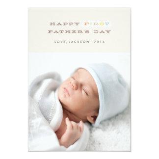 Bunte erste der Vatertags-Karte - Mokka 12,7 X 17,8 Cm Einladungskarte