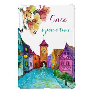 Bunte europäische Illustration des Aquarells Stadt iPad Mini Hülle