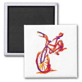 Bunte Fahrrad-Entwürfe Quadratischer Magnet