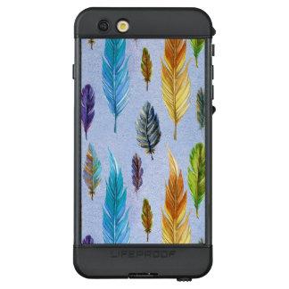 Bunte Feder-nahtloses Muster LifeProof NÜÜD iPhone 6s Plus Hülle