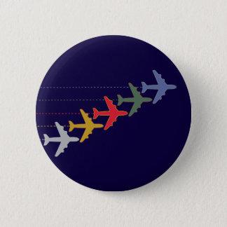 bunte Flugzeuge Runder Button 5,7 Cm