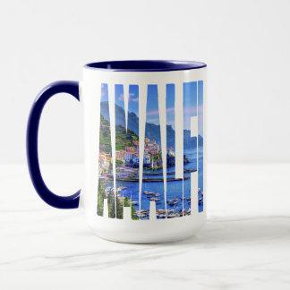 Bunte Foto-Typografie Amalfis Italien Europa Tasse