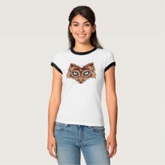 Bunte Fox-Illustration T-Shirt