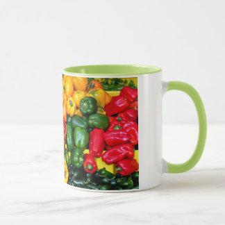 Bunte frische Paprikaschotenkaffee-Tasse Tasse