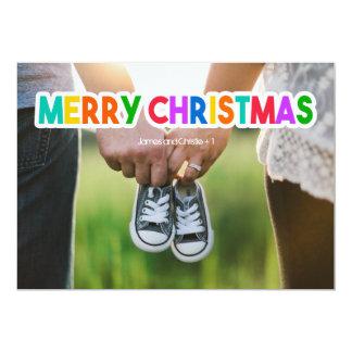 Bunte frohe Weihnacht-Foto-Karte 12,7 X 17,8 Cm Einladungskarte