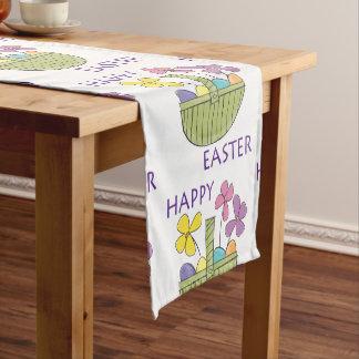 Bunte fröhliche Ostern Kurzer Tischläufer