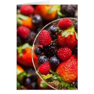 Bunte Frucht Karte