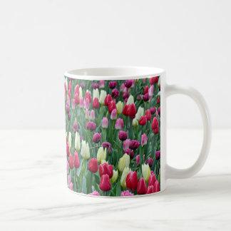 Bunte Frühlingstulpen Kaffeetasse