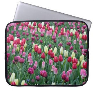 Bunte Frühlingstulpen Laptopschutzhülle