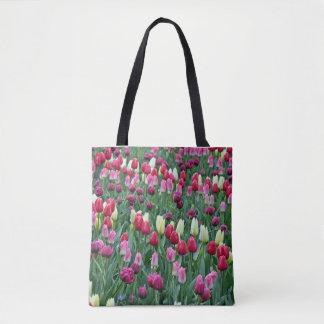 Bunte Frühlingstulpen Tasche