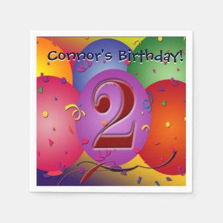 Bunte Geburtstags-Ballone! Papierserviette