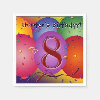 Bunte Geburtstags-Ballone! Serviette