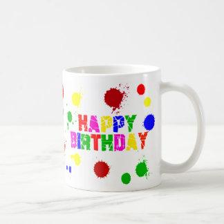 bunte Geburtstags-Tasse Tasse