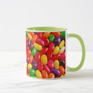 Bunte Geleebonbonmuster-Tasse Tasse
