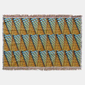 Bunte geometrische Dreiecke und Formen afghanisch Decke