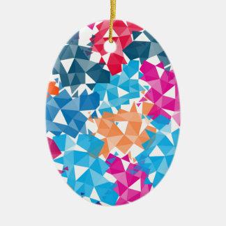 Bunte geometrische Formen 3D Keramik Ornament