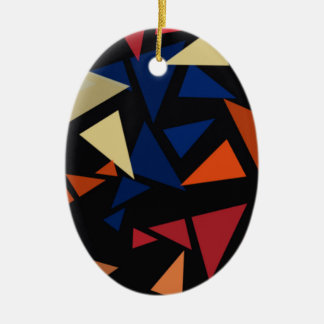 Bunte geometrische Formen Keramik Ornament