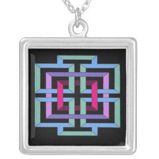 Bunte geometrische Halskette