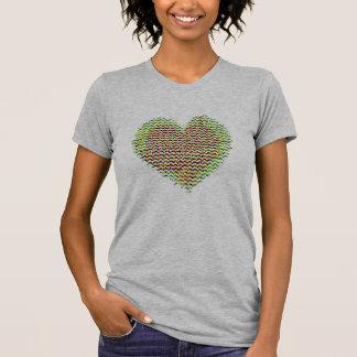 bunte Geschenkidee der Tag Herz-Liebe Valentines T-Shirt