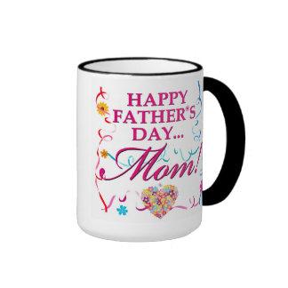 Bunte glückliche Vatertags-Mamma-Tasse Ringer Tasse